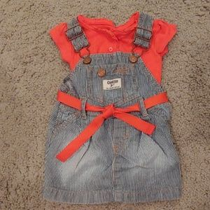 Overall dress with onsie